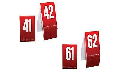 plastic table numbers 41 80 tent style black w white numbers free