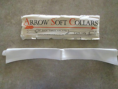 Vintage Mens Arrow Soft Shirt collar Mint in packaging Never used