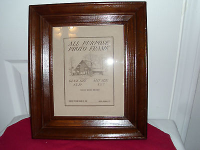Vintage Solid Wood Fordyce Picture Frame w/ Glass - Unused