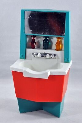 Vintage 1960sDeluxe Reading Doll Furniture Sink Mid Century Mod AS IS