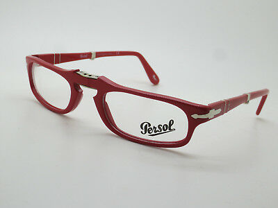 New Authentic PERSOL 2886-V 999 Red Folding 51mm Rx Eyeglasses