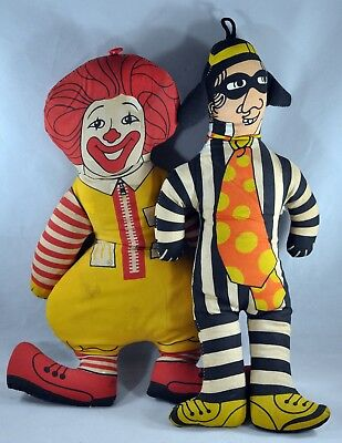 Vintage Ronald McDonald Plush Doll Lot Stuffed Toy Cloth AS IS
