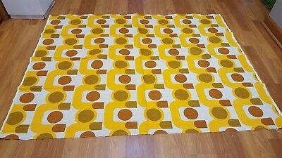 Amazing RARE Vintage Mid Century retro op art print fabric! A MUST SEE!