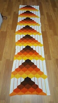 Amazing RARE Vintage Mid Century retro 70s funky triangle fabric! A MUST SEE!