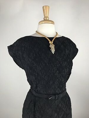NOS VTG 50s 60s Textured Plisse Cocktail Party Dress XL XXL