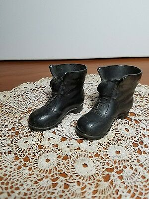 Vintage Spelter Pot Metal Cast Boots Shoes
