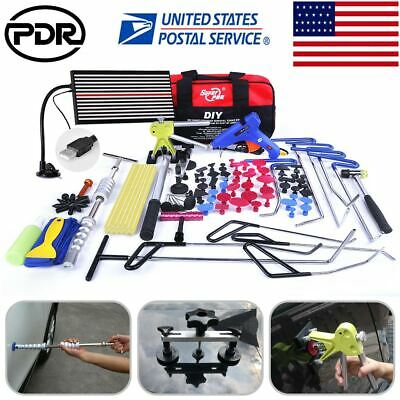 111×  PDR Push Rods Dent Puller Lifter Paintless Hail Repair Removal Tools Kits