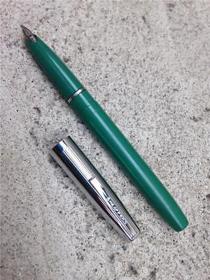 Vintage Sheaffer's Green & Chrome Cartridge Fountain Pen