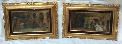 Pr 19th c LISTED Italian Artist Francesco VINEA Oil Canvas Studies Paintings