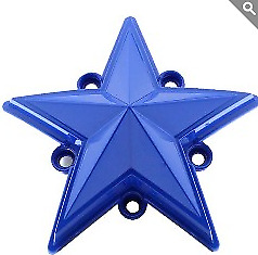 KMC XD 827 Rockstar 3 BLUE Replacement Star (5 pack) Fits S1004-04 Caps ONLY