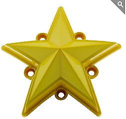 KMC XD 827 Rockstar 3 YELLOW Replacement Star (5 pack) Fits S1004-04 Caps ONLY