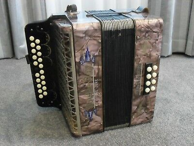 Rare Original Stunning Vintage Double-Ray De Luxe Hohner - Piano Accordion