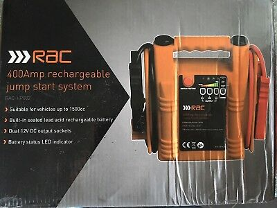 RAC 400 AMP RECHARGABLE JUMP START SYSTEM PETROL & DIESEL 12v Output Socket