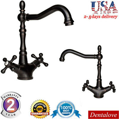 Vintage Style Oil Rubbed Bronze Bathroom Faucet Basin Sink Mixer Tap Faucets USA