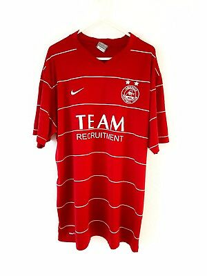 Aberdeen Home Shirt 2009. Large. Nike. Red Adults Short Sleeves Football Top L.