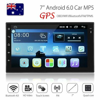 """7"""" Android 6.0 Double 2DIN Car Stereo MP5 Player Radio FM GPS NAV WIFI Bluetooth"""