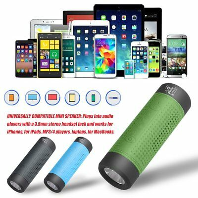 Outdoor Bicycle Bluetooth Speaker 4000mAh Power Bank LED FM Radio lot new