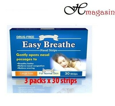 Easy Breathe Natural Nasal Strips - Large Size (90 Strips)