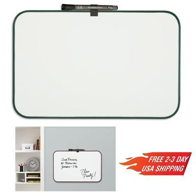 "Magnetic Whiteboard Dry Erase Fridge Board 11""x 17"" Small Size Frame Color Vary"