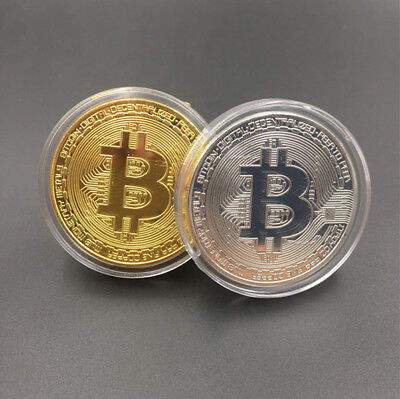 3PC Gold/Silver Bitcoin Commemorative Coin Collection Round Physical Coins Bit