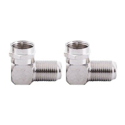 F Type Right Angle Male to Female RF Connector 90 Degree Coax Adapter 2Pack N3J1