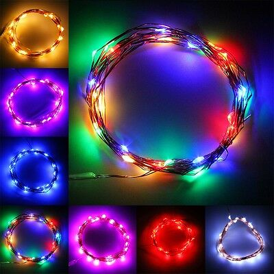 20-100 LEDs Copper Wire Christmas Party String Fairy Lights Battery Powered GT