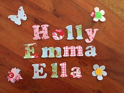 Any 15 Die Cut Iron On Glue On Fabric Names  Cath Kidston Ikea, Personalised New