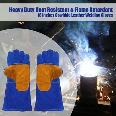 Durable Welding WELDERS Work Soft Cowhide Leather Plus Gloves Hand protection