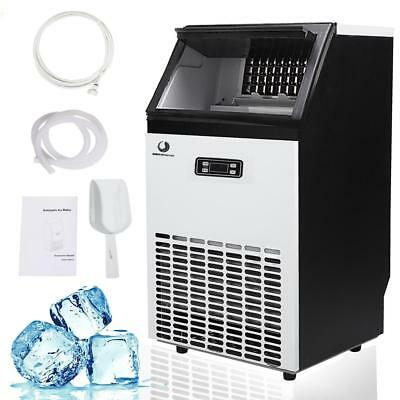 Built-In Stainless Steel Commercial Ice Maker 110LBS Portable Machine Restaurant