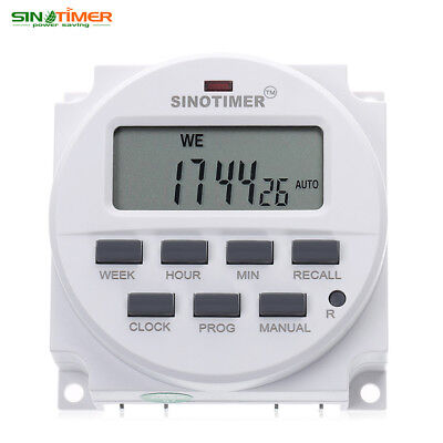 SINOTIMER Digital LCD Power Programmable Timer Control Power Time Switch DC 12V