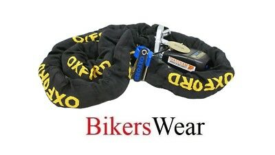 OXFORD Gold Series 1.2m Motorcycle Security Chain & Padlock - Thatcham approved