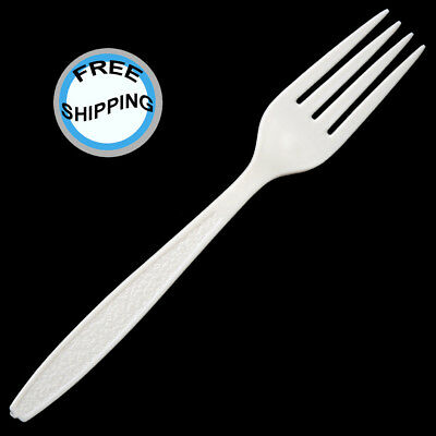 Plastic Forks, Extra Heavy Weight Polystyrene, White (1,000) [236 Cases Sold]