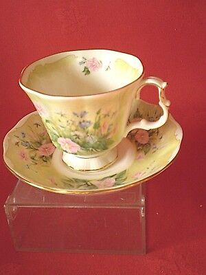 Royal Albert England Cup & Saucer Duo Glorious Morning Shakespeares Flowers