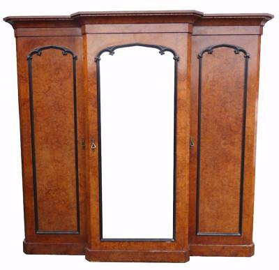 Victorian Burr Walnut Wardrobe by R Crosby & Sons of Liverpool