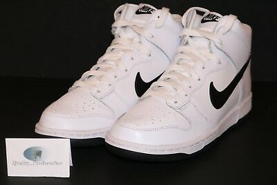 save off 5b412 04c2f MENS NIKE DUNK High White Black Leather Athletic Shoes 904233 103 Size 7