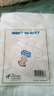 1984 Wendy's Where's The Beef? Canvas Kitchen Apron Clara Peller