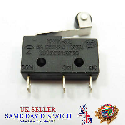6A 250V KW11-3Z 3 Pin Tact Switch Micro Microswitch Buckle Round Handle
