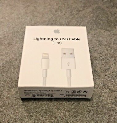 Apple USB Lightning to USB Charger Data Cable3ft (1m)for iPhone 5 6 6s 7 8.