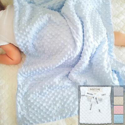 Newborn Infant Baby Boy Girl Soft Fleece Bubble Blanket Comforter Wrap Pram New