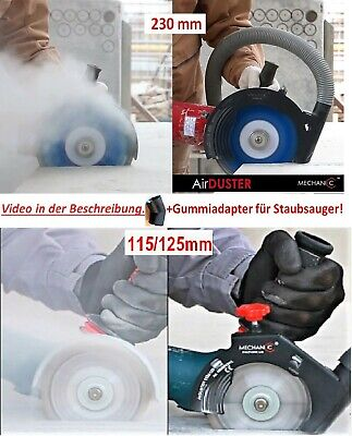 MECHANIC Air Duster Winkelschleifer Absaughaube 125 mm / 230mm