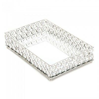 Clear Crystal Tray Decorative Vintage Modern Vanity or Dresser Perfume Display