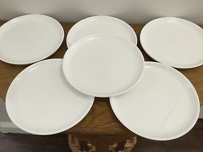 "6 Vintage Rego ""Dietary Products"" White Plates"