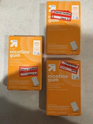 3 Packs! Exp. 3/18 Nicotine 2mg Citrus Burst Coated Gum - NEW! Total Count: 60