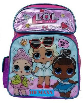 "L.O.L SURPRISE! Large 16"" inches Backpack - New Licensed Product with Tags"
