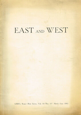 East And West New Series Vol.14 N.1-2. Quarterly Published. 1963. .