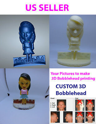 Custom 3D print Bobblehead  Personalized Photo,  put your own picture
