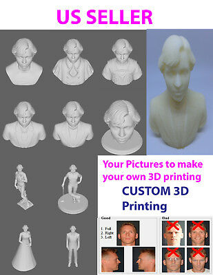 Custom 3D print Personalized Photo,  put your own picture