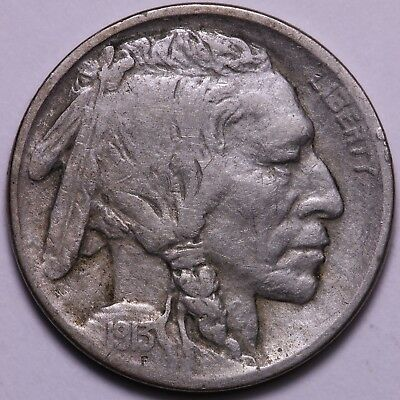 VF+ 1913-D Type 1 Buffalo Nickel           R7ACM
