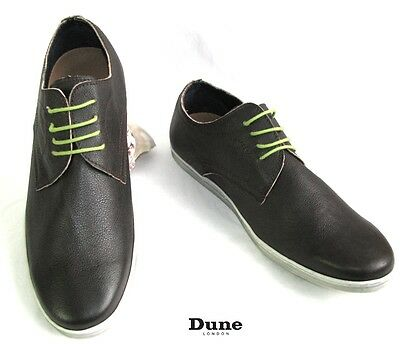 Dune London - Shoes Relaxation Brown Leather Shoelaces Green Anise 43 - New