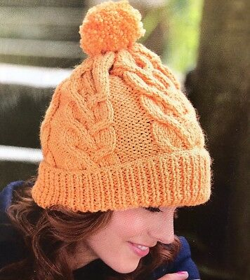 Cg31 - Knitting Pattern For Beanie / Woolly Bobble Hat